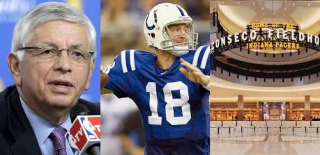 Stern, Manning e Conseco Fieldhouse