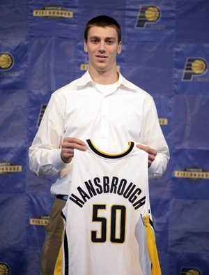 Pacers Draft Hansbrough Basketball